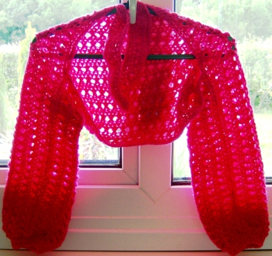 2015-06-20 - Easy Breezy Shrug by Joyful Yarns Crochet - for Cullie